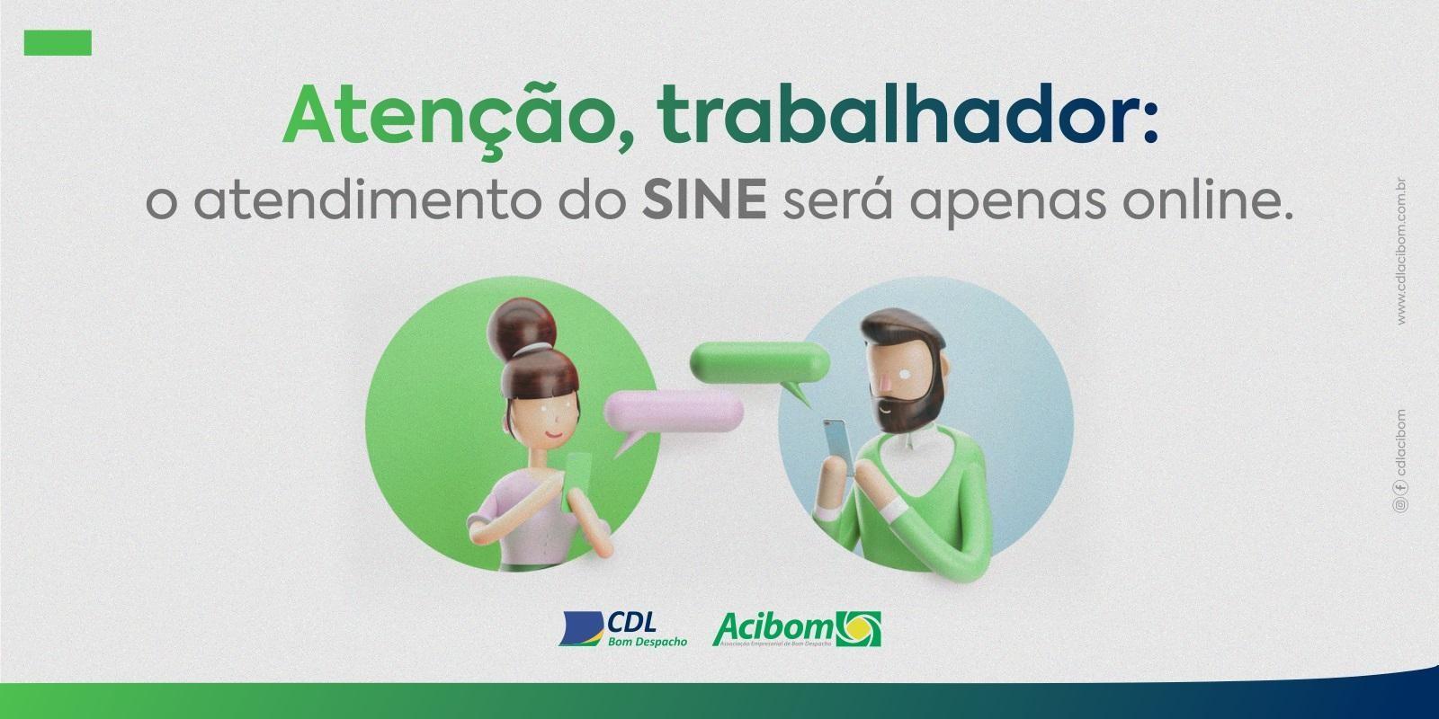 Atenção, trabalhador: o atendimento do SINE será apenas online